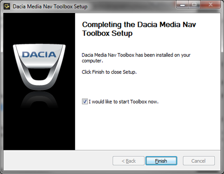 Dacia Media Nav Toolbox installation